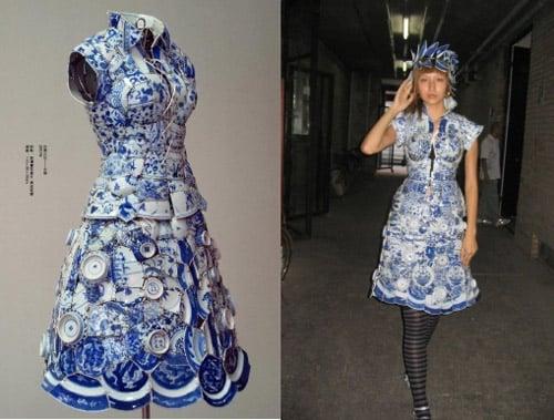 Sukienka z porcelany